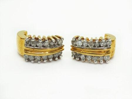 0.84ct tw Earth Mined Diamond J Stud Earrings 10k Gold